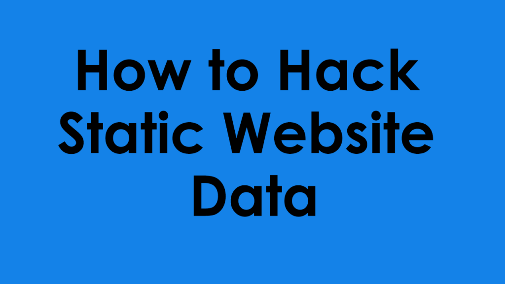 how to hack static website files