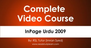 InPage Urdu 2009 by rsl tutor [www.readstudylearn.com]